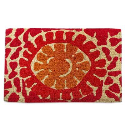 Red Flower Doormat