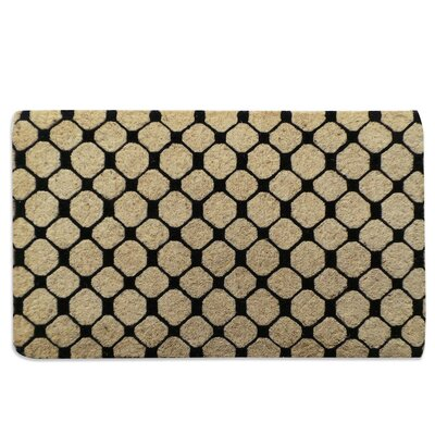 Black Check Geometric Doormat