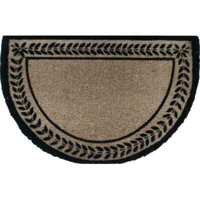 Leaf Border Decorative Doormat