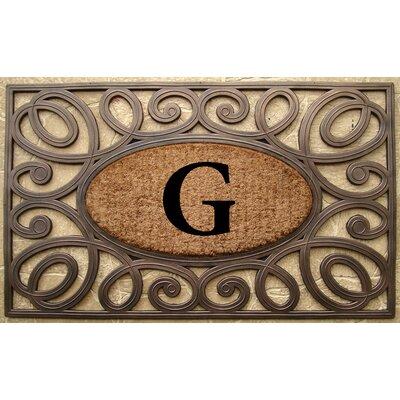 Elegant Circles Princess Monogrammed Doormat Letter: G