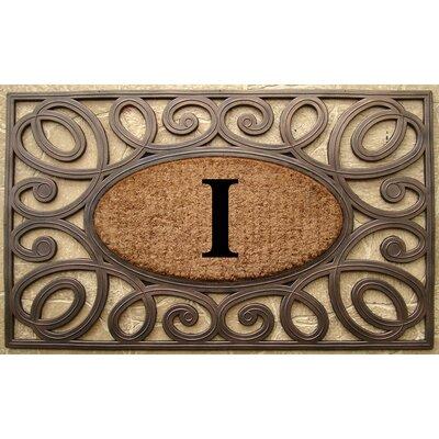 Elegant Circles Princess Monogrammed Doormat Letter: I