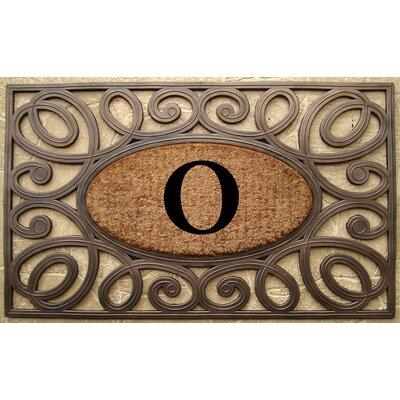 Elegant Circles Princess Monogrammed Doormat Letter: O