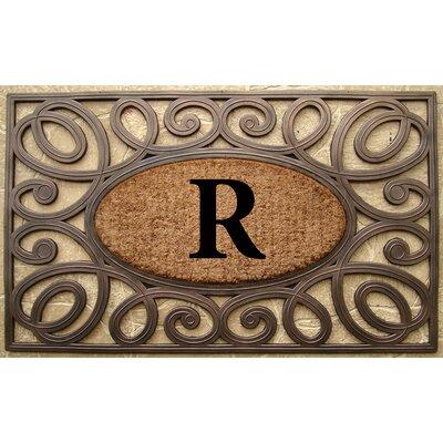 Elegant Circles Princess Monogrammed Doormat Letter: R