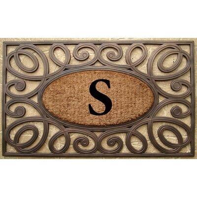 Elegant Circles Princess Monogrammed Doormat Letter: S