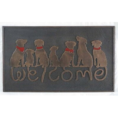 Dog Tail Welcome Doormat