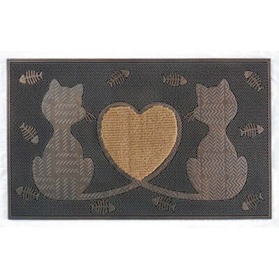 Twin Heart Cat Doormat