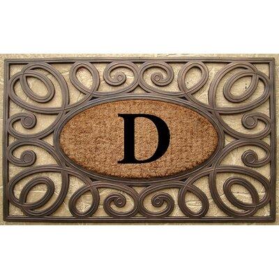 Elegant Circles Princess Monogrammed Doormat Letter: D