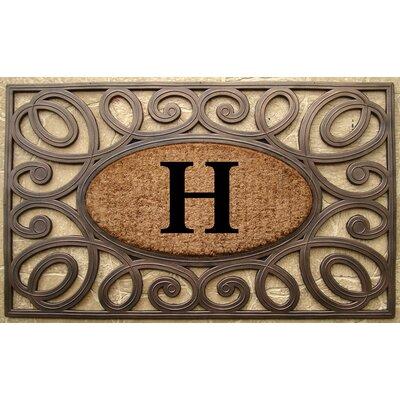 Elegant Circles Princess Monogrammed Doormat Letter: H