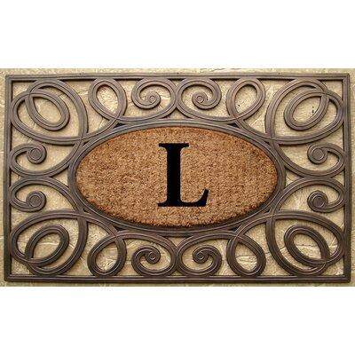 Elegant Circles Princess Monogrammed Doormat Letter: L