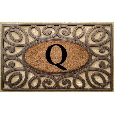Elegant Circles Princess Monogrammed Doormat Letter: Q