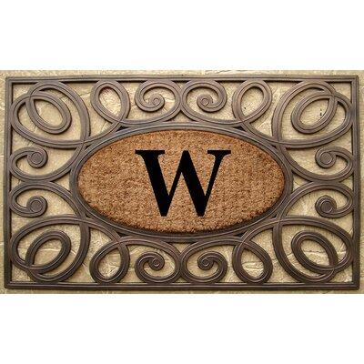 Elegant Circles Princess Monogrammed Doormat Letter: W
