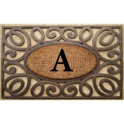 Elegant Circles Princess Monogrammed Doormat Letter: A