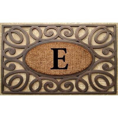 Elegant Circles Princess Monogrammed Doormat Letter: E