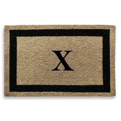 Classic Border Monogrammed Doormat Letter: X