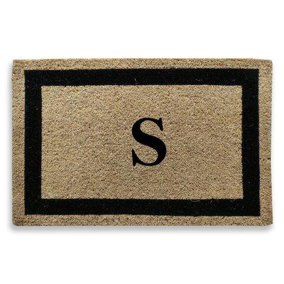 Classic Border Monogrammed Doormat Letter: S