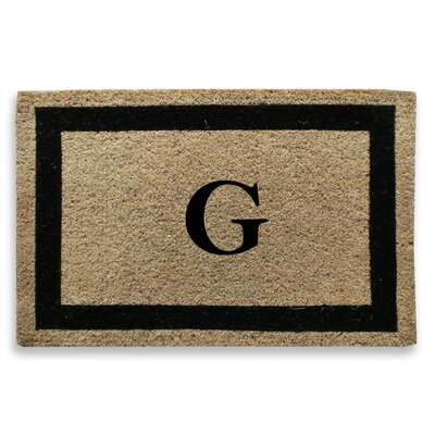 Classic Border Monogrammed Doormat Letter: G