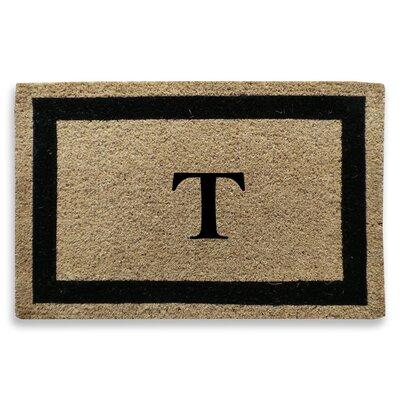Classic Border Monogrammed Doormat Letter: T