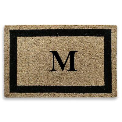 Classic Border Monogrammed Doormat Letter: M