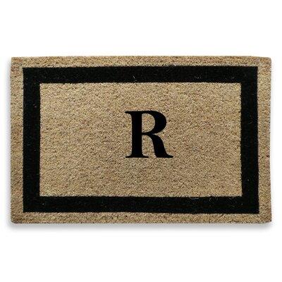 Classic Border Monogrammed Doormat Letter: R