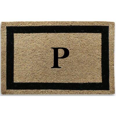 Classic Border Monogrammed Doormat Letter: P