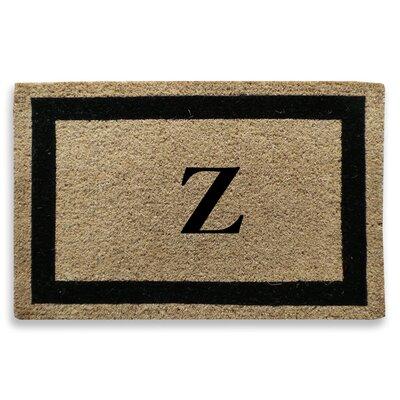 Classic Border Monogrammed Doormat Letter: Z