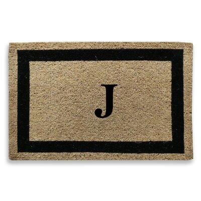 Classic Border Monogrammed Doormat Letter: J
