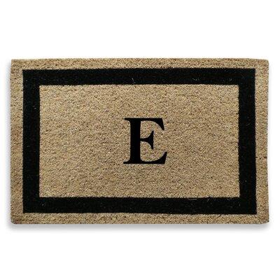 Classic Border Monogrammed Doormat Letter: E