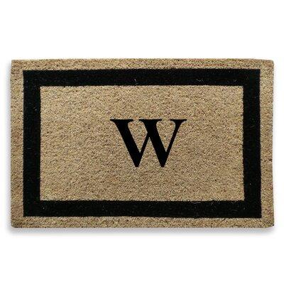 Classic Border Monogrammed Doormat Letter: W