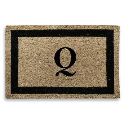 Classic Border Monogrammed Doormat Letter: Q