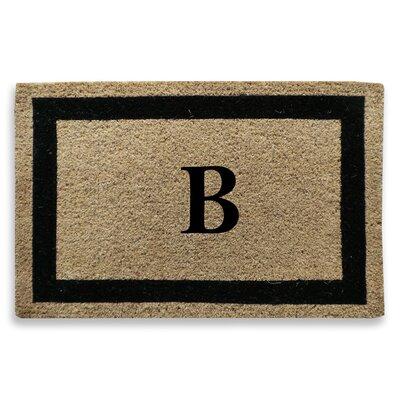Classic Border Monogrammed Doormat Letter: B