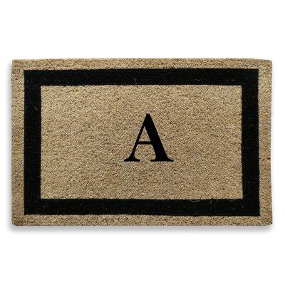 Classic Border Monogrammed Doormat Letter: A