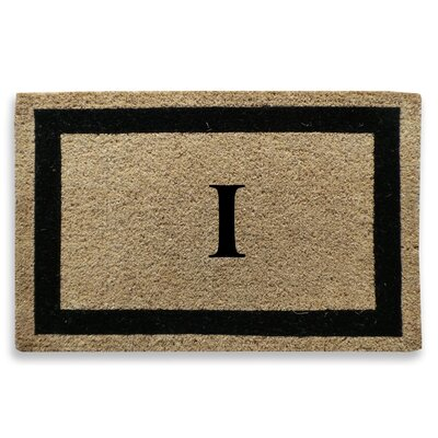 Classic Border Monogrammed Doormat Letter: I