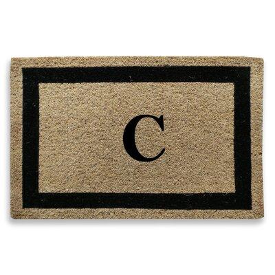 Classic Border Monogrammed Doormat Letter: C