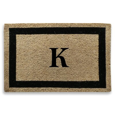Classic Border Monogrammed Doormat Letter: K