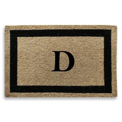 Classic Border Monogrammed Doormat Letter: D