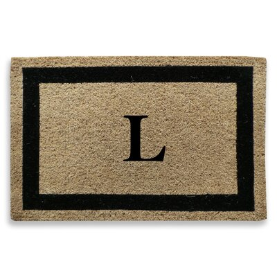 Classic Border Monogrammed Doormat Letter: L