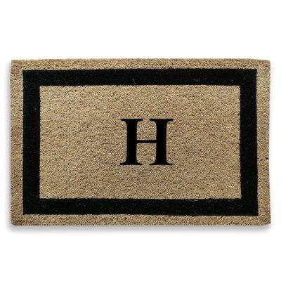 Classic Border Monogrammed Doormat Letter: H