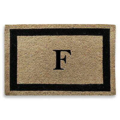 Classic Border Monogrammed Doormat Letter: F
