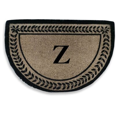 Leaf Decorative Border Monogrammed Doormat Letter: Z