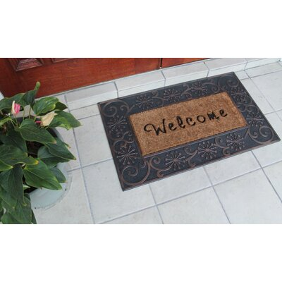 Welcome Artistic Border Princess Doormat