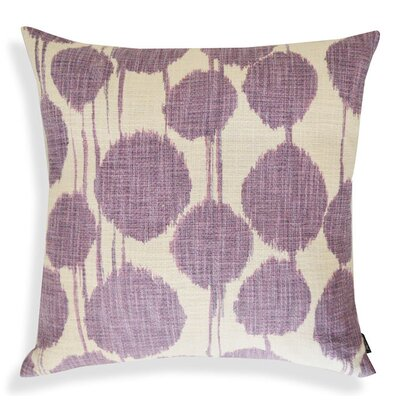 Ikat Designer Cotton Throw Pillow Color: Purple