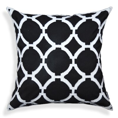 Geometric Pattern Cotton Throw Pillow