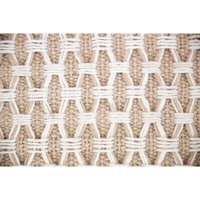 Hand-Woven Beige Indoor/Outdoor Area Rug