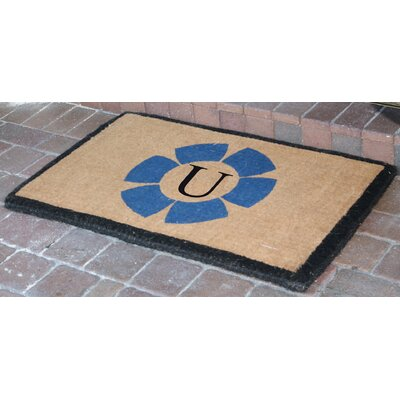 First Impression Floella Monogrammed Doormat Letter U