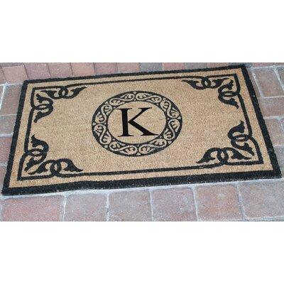 First Impression Geneva Monogrammed Doormat Letter: K