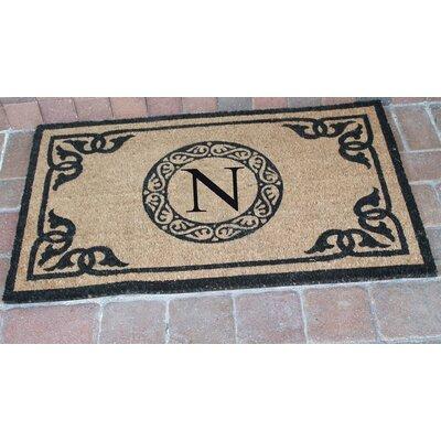 First Impression Geneva Monogrammed Doormat Letter: N