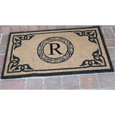 First Impression Geneva Monogrammed Doormat Letter: R