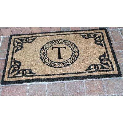 First Impression Geneva Monogrammed Doormat Letter: T