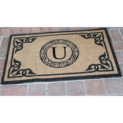 First Impression Geneva Monogrammed Doormat Letter: U