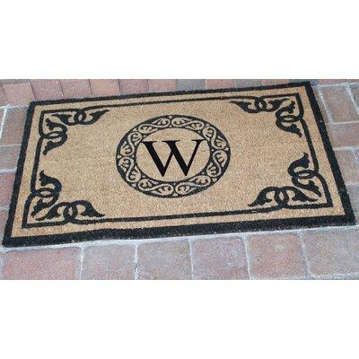 First Impression Geneva Monogrammed Doormat Letter: W